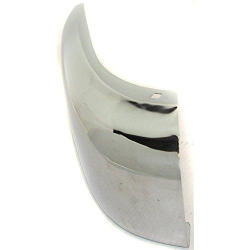 Evan-Fischer EVA1717209731 Bumper End for Isuzu Pickup 88-94 Passport 94-97 Front Chrome Right Side Steel