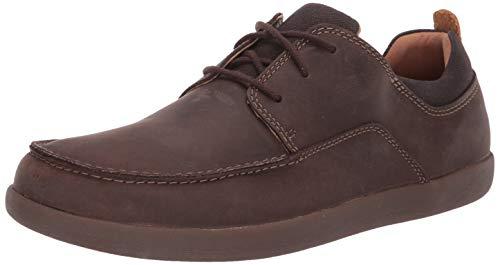 - CLARKS Men's Un Lisbon Lace Sneaker, Brown Leather & Canvas Combi, 140 M US