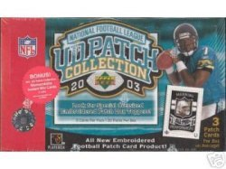 2003 Upper Deck Patch Collection Football Cards Unopened Hobby box - Carson Palmer & Larry Johnson Rookie Year
