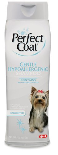 8 In 1 Pet Products DEOI610 Perfect Coat Gentle Hypoallergenic Dog Shampoo, 16-Ounce, My Pet Supplies