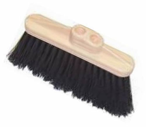 HUB City Industries 2022P  2'' x 10'' Stiff Black Plastic Bristles, 4'' Trim, Molded Plastic Block