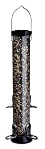 Droll Yankees CC18S 18-Inch Onyx Sunflower Tube Bird Feeder with Removable Base On Sale