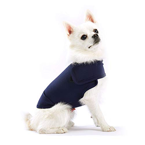 Furubaby Anxiety Dog Coat a Shirt Calm Down Dog Jacket for xs Small Medium Large XL Dogs | Solid Color Blue Gray Green Pink Thunder Dog Vest Wrap