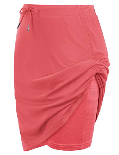 Women's Plus Size Skort Lightweight Skirt for Workout Sports(2XL,Red)