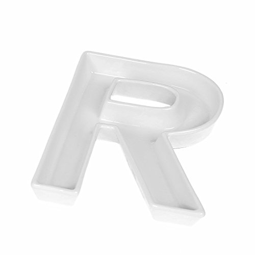 (Coffeezone Party Candy Dishes Letter Shape Plates for Nuts Decoration, Wedding Gift (Letter R))