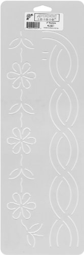 Sten Source Quilt Stencils, 2-Inch Borders, 6-Inch x 18-Inch Notions - In Network W-1617 EP86904011