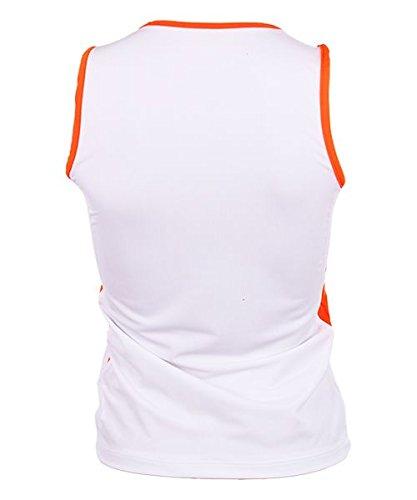 OCHO PADEL Camiseta Mangas Blanca Naranja: Amazon.es ...