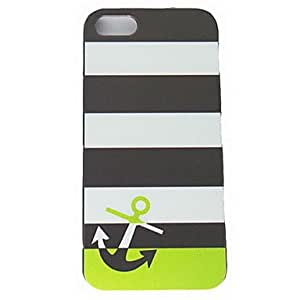 Black and White Stripe Anchor Design Hard Cases for iPhone 5/5S