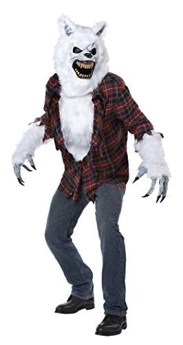 White Lycan Werewolf Adult Mens -