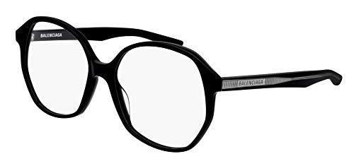 Balenciaga BB0005O Eyeglasses 001 Black-Black 57mm