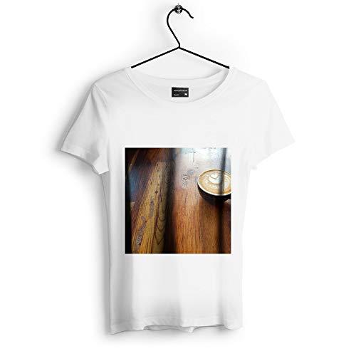 Cappuccino Hardwood Floors - Westlake Art - Coffee Wood - Unisex Tshirt - Picture Photography Artwork Shirt - White Adult Medium (D41D8)