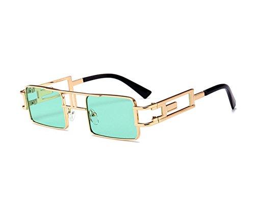 Vintage gafas C6 Steampunk cuadradas Classic Non Gothic sol de Beams Pequeñas Twin Style polarized HHrxqwY