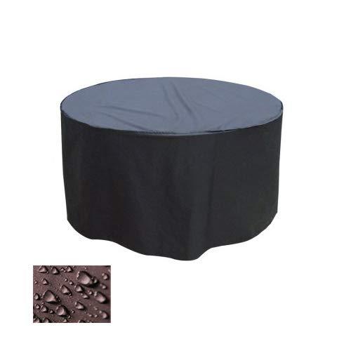 Holi Europe Premium Gartentisch Abdeckung Gartenmöbel Schutzhülle RUND ø 175cm x H 80cm Anthrazit