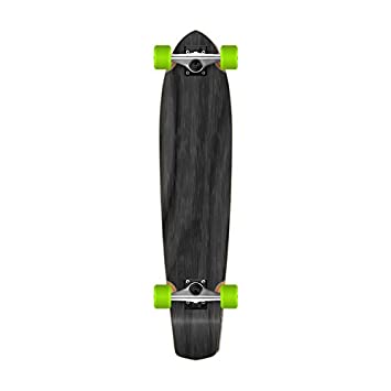 Yocaher SlimKick Tail Graphic Longboard Complete Skateboard Cruise Vintage Style 36 x 8