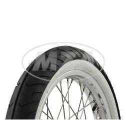 SIMSON-Komplettrad - VORNE - 1,5x16 Zoll - Alufelge poliert, Edelstahlspeichen - MITAS-Weiß wandreifen MC2 montiert MZA Meyer-Zweiradtechnik GmbH