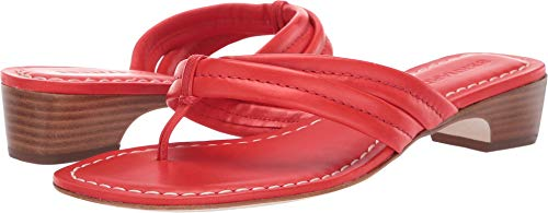 Bernardo Women's Miami Demi Heel Sandals Tomato Antique Calf 9 M US