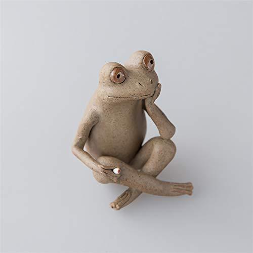 Ceramic Frog Tea Pet Decoration Handmade Boutique Tea Set Accessories ()