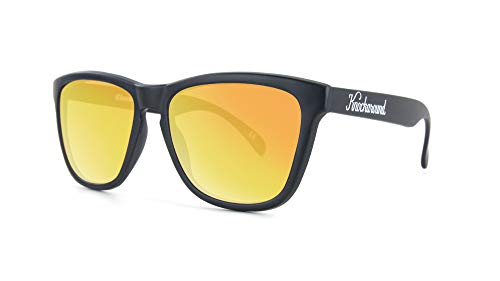 (Knockaround Classics Polarized Sunglasses With Matte Black Frames/Yellow Reflective Lenses)