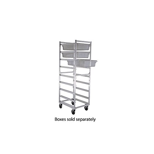 New Age Industrial 1481 Full Height Mobile Poly Box Rack w/Open Sides