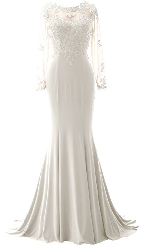 Evening Of Sleeves Macloth Dress Mermaid Ivoire Gown The Mother Women Lace Bride Long nYtPtqB8rw