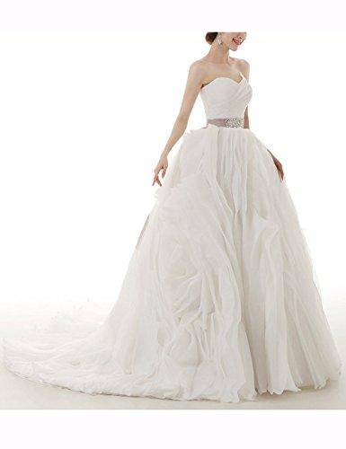 Lactraum HS1037 Brautkleid Hochzeitskleid Strassstein mit schleppe