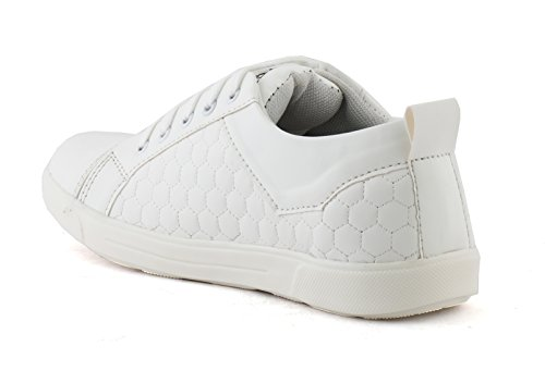 Redfoot AORFEO White Leather Look Sneaker Shoe Shoes CX52 (8)