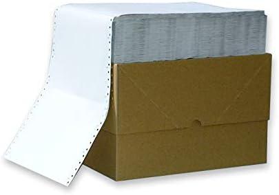 Endlospapier 12 Zoll 2-fach blanko 60 g/qm 1.000 Satz weiß selbstdurchschreibend für Nadeldrucker
