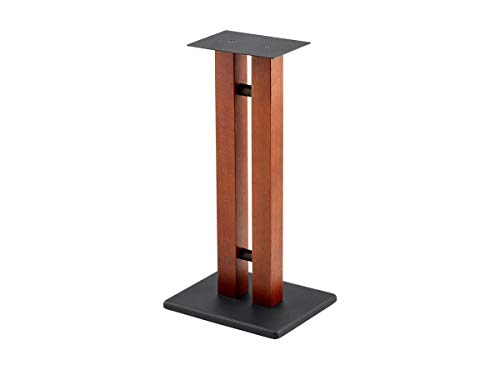 Monolith Speaker Stands - 24 inch, Cherry (Each), 50lbs Capacity, Adjustable Spikes, Sturdy Construction, Ideal for Home Theater Speakers