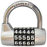 Lucchetto BaouRouge a 5 cifre con combinazione azzerabile 65 millimetri (Grigio)