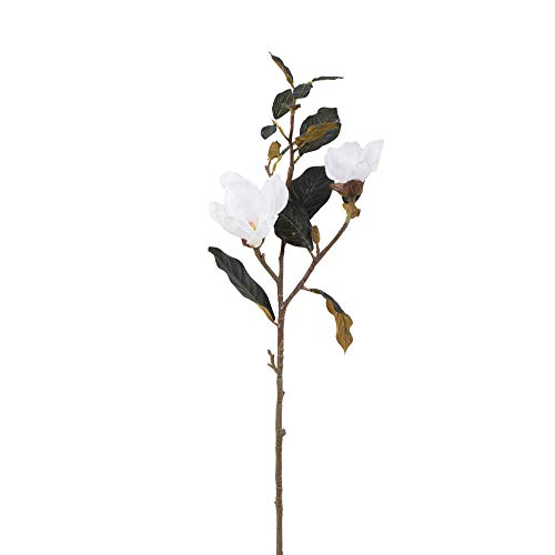 Vickerman Magnolia Stem Artificial-Flowers, 31″, White