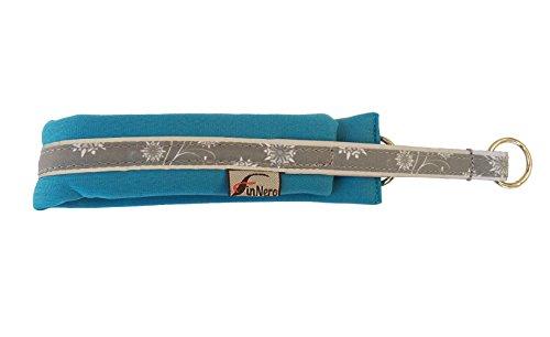 FinNero Pet Products, Finland – Snow Sport Soft, Neoprene Dog Collar (2,5 (40-47 cm), Turquoise)