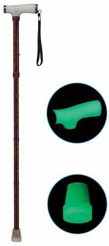 Folding Alum Cane w/ Glow Grip Handle & Tip Copper