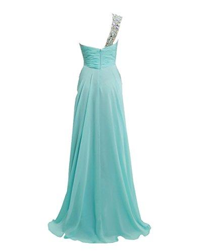 La Rosa Caliente Un Hombro Gasa De Honor Noche Dama Jaeden Baile Largo Vestidos Vestido OTRS7q0w