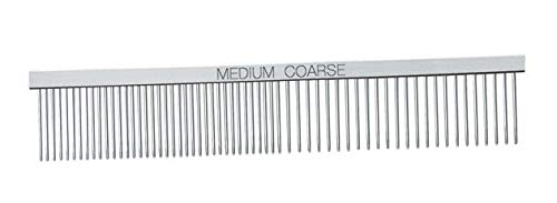 Professional Dog Grooming Greyhound Combs for Dogs Chrome Comb - Choose Size (Medium/Coarse Comb)