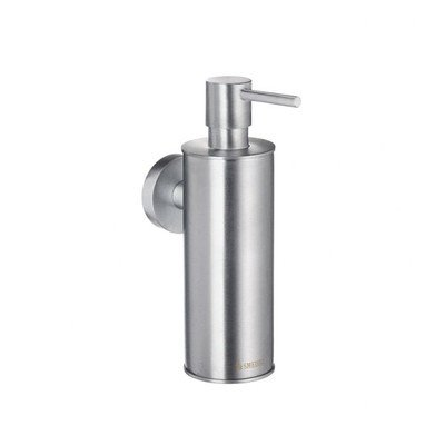Home Wall Mount Soap and Lotion Dispenser Finish: Brushed chrome - Smedbo Glass Wall Soap Dispenser