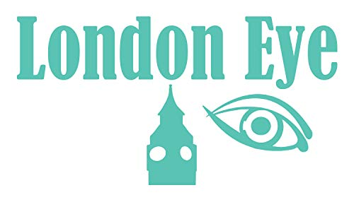 London Eye Wall Decal displays 'London Eye', an Eye and The top of The Big Ben Tower Clock. This Will give You a London Feel on Any Wall. This Wall Decal is Mint ()