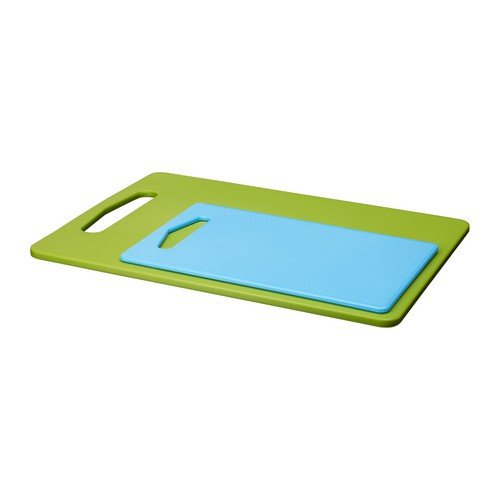 IKEA LEGITIM - Chopping board, set of 2, green, blue