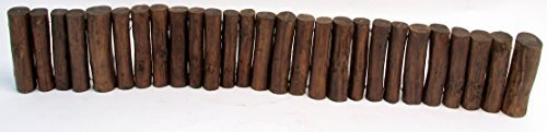Master Garden Products Teak Wood Even Top Solid Log Edging, 5 by 48-Inch