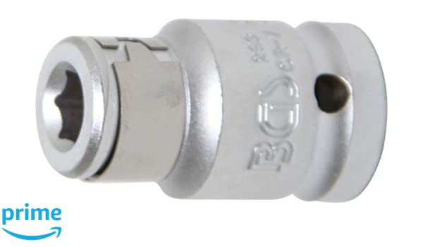 10 mm Adaptador de puntas con bola de retenci/ón | hex/ágono interior 6,3 mm 3//8 BGS 8225 1//4