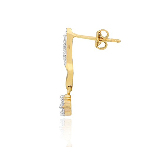 Giantti 14carats Diamant pour femme Dangler Boucles d'oreilles (0.356CT, VS/Si-clarity, Gh-colour)