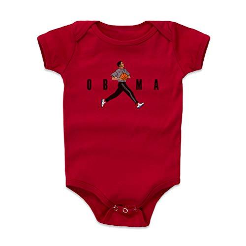 Barack Obama Baby Clothes, Onesie, Creeper, Bodysuit - Obama Basketball WHT (Red, 3-6 Months)