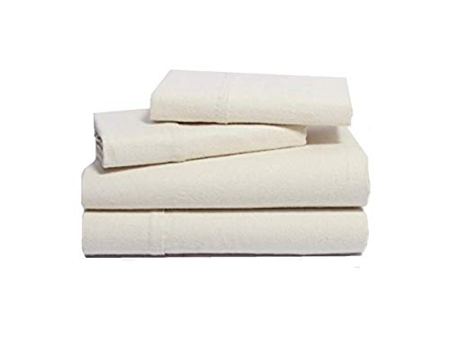 Organics and More NatureSoft Organic Cotton Flannel Sheet Sets - Queen - Natural (Best Reasonably Priced Mattress)