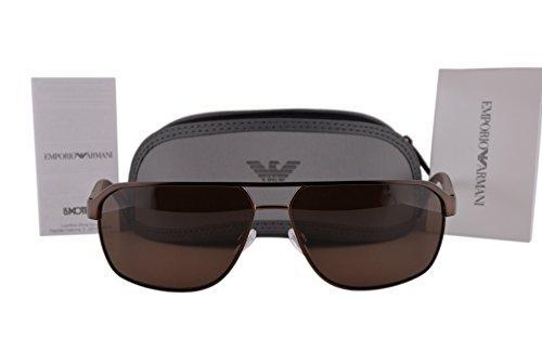 Emporio Armani EA2039 Sunglasses Matte Brown w/Brown Lens 302073 EA 2039 For - Clearance Armani