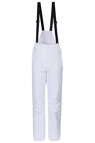 Mountain Warehouse Moon Womens Ski Pants - Warm Bib Snow Trousers White 12