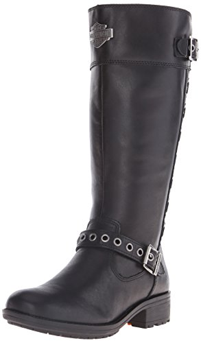 Harley-Davidson Women's Annadale Motorcycle Boot, Black, 8.5 M US