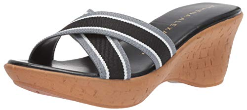 Athena Alexander Women's Seymour Wedge Sandal, Black, 10 M US
