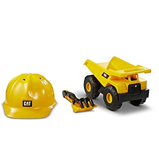 Cat Construction Dump Truck with Cat Hard Hat Sand Set Outdoor Toys