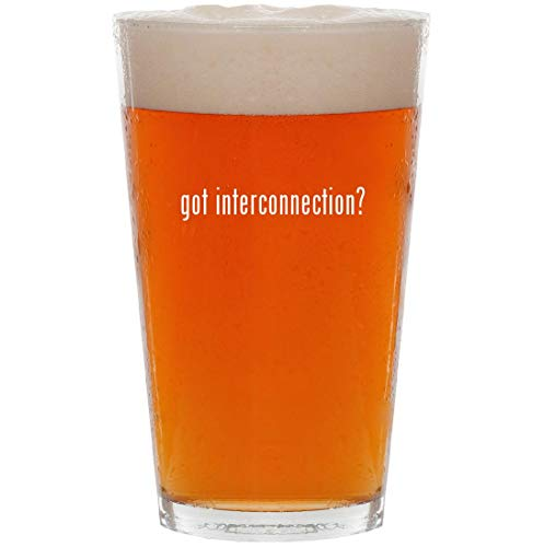 (got interconnection? - 16oz All Purpose Pint Beer Glass )