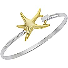Starfish Bracelet Sea Life Latch Cuff by Cape Cod Jewelry-CCJ