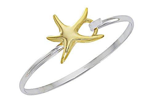Starfish Bracelet (Cape Cod Jewelry-CCJ Starfish Bracelet Sea Life Latch Cuff)